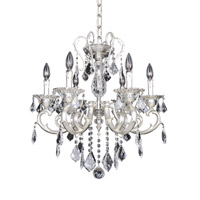 Allegri 022152-017-FR001 Rafael 6 Light 24 inch Two-Tone Silver Chandelier Ceiling Light in Firenze Clear