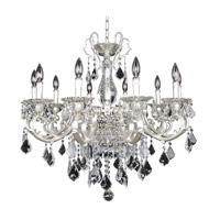 Allegri 022153-017-FR001 Rafael 13 Light 32 inch Two-Tone Silver Chandelier Ceiling Light in Firenze Clear