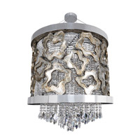 Allegri 022351-010-FR001 Caravaggio 9 Light 39 inch Chrome Pendant Ceiling Light