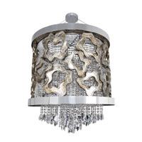 Allegri 022351-010-FR001 Caravaggio 9 Light 39 inch Chrome Pendant Ceiling Light
