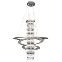 Giovanni 5 Light 26 inch Brushed Nickel Pendant Ceiling Light in Firenze Clear