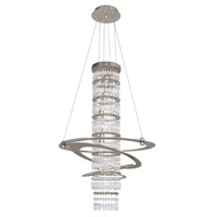 Allegri 022551-009-FR001 Giovanni 3 Light 18 inch Brushed Nickel Pendant Ceiling Light in Firenze Clear
