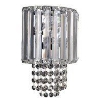 Allegri 022720-010-FR001 Adaliz 2 Light 8 inch Chrome Wall Bracket Wall Light in Firenze Clear