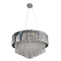 Adaliz 12 Light 24 inch Chrome Pendant Ceiling Light in Firenze Clear
