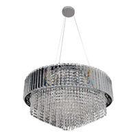 Adaliz 16 Light 28 inch Chrome Pendant Ceiling Light in Firenze Clear