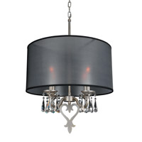 Georgetta 4 Light 24 inch Aged Silver Chandelier Ceiling Light