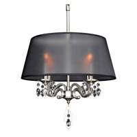 Allegri Georgetta 4 Light Chandelier in Aged Silver 023051-002-FR001