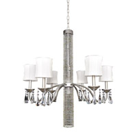 Allegri Albertina 6 Light Chandelier in Aged Silver 023052-002-FR001
