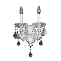 Allegri 023120-017-FR001 Praetorius 2 Light 11 inch Two-Tone Silver Wall Bracket Wall Light in Firenze Clear