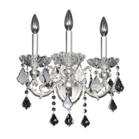 Praetorius 3 Light 16 inch Two-Tone Silver Wall Bracket Wall Light in Firenze Clear