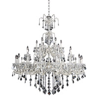 Praetorius 33 Light 57 inch Two-Tone Silver Chandelier Ceiling Light in Firenze Clear