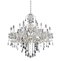 Praetorius 18 Light 44 inch Two-Tone Silver Chandelier Ceiling Light in Firenze Clear