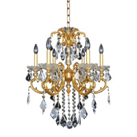 Allegri 023152-011-FR001 Praetorius 6 Light 24 inch 24K French Gold Chandelier Ceiling Light in Firenze Clear photo thumbnail