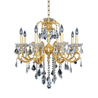 Praetorius 8 Light 30 inch 24K French Gold Chandelier Ceiling Light in Firenze Clear