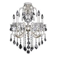 Praetorius 5 Light 24 inch Two-Tone Silver Flush Mount Ceiling Light in Firenze Clear