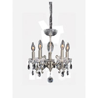 Allegri Bertalli 5 Light Mini Chandelier in Brushed Nickel 023350-009-FR001