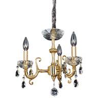 Allegri Bertalli 3 Light Mini Chandelier in 24K Gold 023351-024-FR001