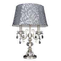 Allegri Bertalli 2 Light Table Lamp in Brushed Nickel 023390-009-FR001