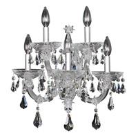 Brahms 5 Light 17 inch Chrome Wall Bracket Wall Light in Firenze Clear