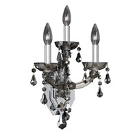 Allegri 023423-010-FR006 Brahms 3 Light 10 inch Chrome Wall Bracket Wall Light in Firenze Smoked Fleet Argentine