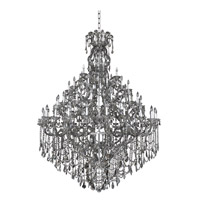 Allegri 023450-010-FR006 Brahms 66 Light 70 inch Chrome Chandelier Ceiling Light in Firenze Smoked Fleet Argentine