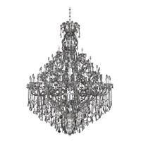Allegri 023450-010-FR006 Brahms 66 Light 70 inch Chrome Chandelier Ceiling Light in Firenze Smoked Fleet Argentine