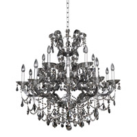 Allegri 023451-010-FR006 Brahms 15 Light 38 inch Chrome Chandelier Ceiling Light in Firenze Smoked Fleet Argentine photo thumbnail