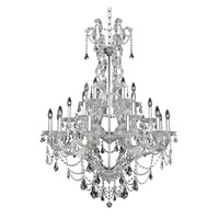 Allegri 023452-010-FR006 Brahms 24 Light 41 inch Chrome Chandelier Ceiling Light in Firenze Smoked Fleet Argentine