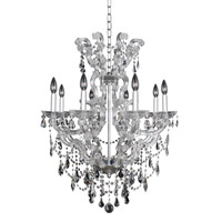 Allegri 023454-010-FR001 Brahms 8 Light 28 inch Chrome Chandelier Ceiling Light in Firenze Clear