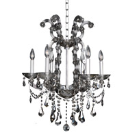 Brahms 6 Light 22 inch Chrome Chandelier Ceiling Light in Firenze Smoked Fleet Argentine