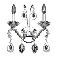 Allegri 023520-010-FR001 Torrelli 2 Light Chrome Wall Sconce Wall Light in Firenze Clear