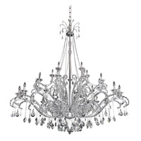 Torrelli 35 Light 25 inch Chrome Chandelier Ceiling Light in Firenze Clear