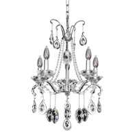 Allegri 023553-010-FR001 Torreli 5 Light 18 inch Chrome Chandelier Ceiling Light in Firenze Clear