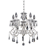 Haydn 5 Light 19 inch Silver Chandelier Ceiling Light in Firenze Clear