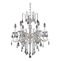 Haydn 6 Light 24 inch Silver Chandelier Ceiling Light in Firenze Clear