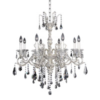 Haydn 8 Light 30 inch Silver Chandelier Ceiling Light in Firenze Clear