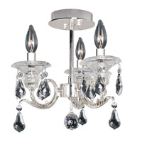 Haydn 3 Light 13 inch Silver Semi-Flush Mount Ceiling Light in Firenze Clear
