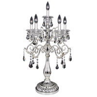 Haydn 33 inch 40 watt Silver Table Lamp Portable Light in Firenze Clear