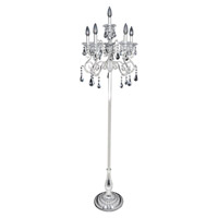 Allegri 023692-014-FR001 Haydn 64 inch 40 watt Silver Floor Lamp Portable Light in Firenze Clear
