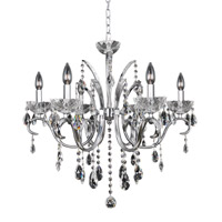 Allegri 023854-010-FR001 Catalani 6 Light 26 inch Chrome Chandelier Ceiling Light