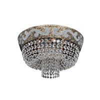 Allegri 024041-006-FR001 Romanov 7 Light 18 inch Antique Silver Leaf Flush Mount Ceiling Light in Firenze Clear photo thumbnail