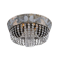 Allegri Romanov 9 Light Flush Mount in Antique Silver Leaf 024043-006-FR001