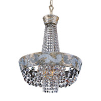 Romanov LED 18 inch Antique Silver Leaf Chandelier Ceiling Light in Firenze Clear