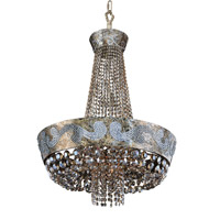 Allegri 024052-006-FR005 Romanov LED 24 inch Antique Silver Leaf Chandelier Ceiling Light in Firenze Fleet Gold photo thumbnail