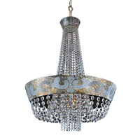 Romanov LED 30 inch Antique Silver Leaf Chandelier Ceiling Light in Firenze Clear