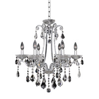 Ferrero 6 Light 24 inch Chrome Chandelier Ceiling Light in Firenze Clear