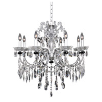 Steffani 8 Light 30 inch Chrome Chandelier Ceiling Light in Firenze Clear