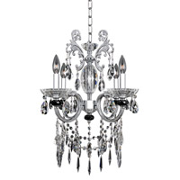 Steffani 4 Light 16 inch Chrome Chandelier Ceiling Light in Firenze Clear