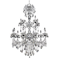 Allegri 024254-010-FR001 Steffani 15 Light 38 inch Chrome Chandelier Ceiling Light in Firenze Clear