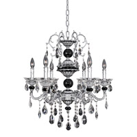 Faure 4 Light 26 inch Chrome Chandelier Ceiling Light in Firenze Clear